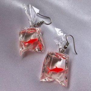 goldfish bag 🐠 earrings